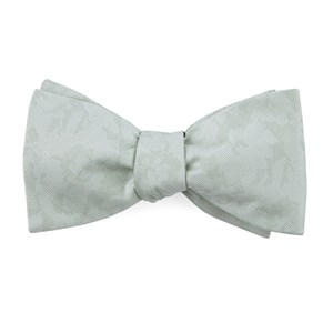 refinado floral spearmint bow ties