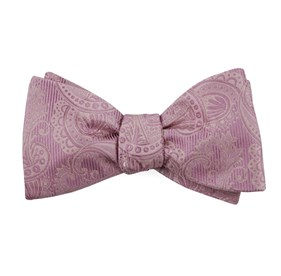Dusty Rose Twill Paisley bow ties