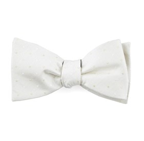 Suited Polka Dots Ivory Bow Ties