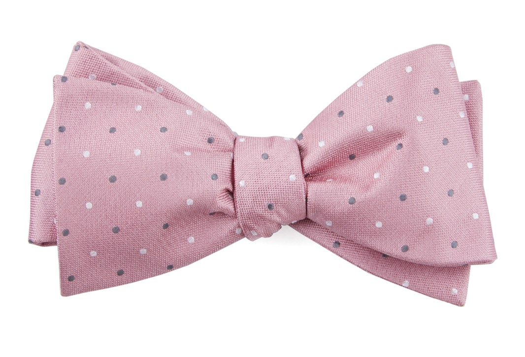 Soft Pink Suited Polka Dots Bow Tie Men S Bow Ties The