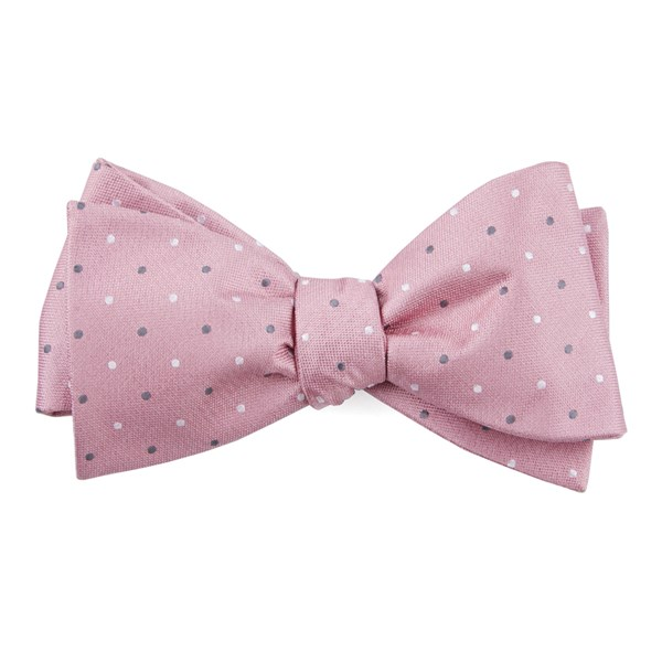 Soft Pink Suited Polka Dots Bow Tie
