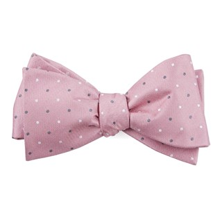 suited polka dots soft pink bow ties
