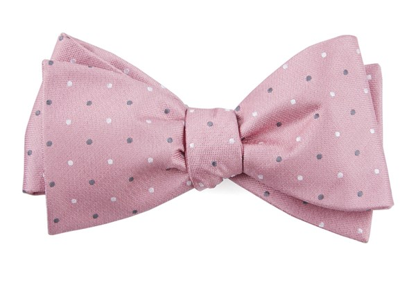 Suited Polka Dots Soft Pink Bow Tie