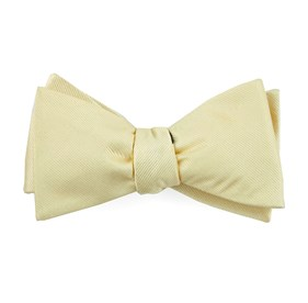 Butter Grosgrain Solid bow ties