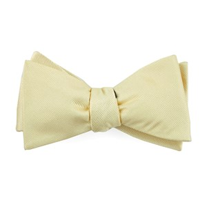 grosgrain solid butter bow ties