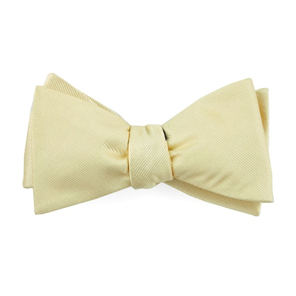 Butter Grosgrain Solid Bow Tie