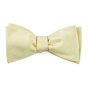 Butter Herringbone Vow bow ties