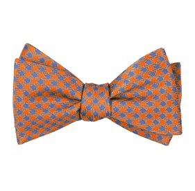 Tangerine Commix Checks boys bow ties