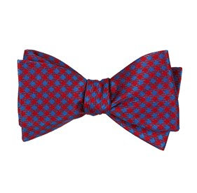 Red Commix Checks bow ties