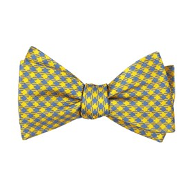 Yellow Commix Checks boys bow ties