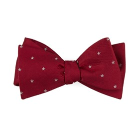 Red Statesman Stars bow ties