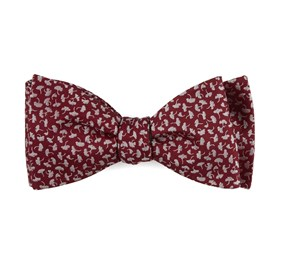 Red True Floral bow ties