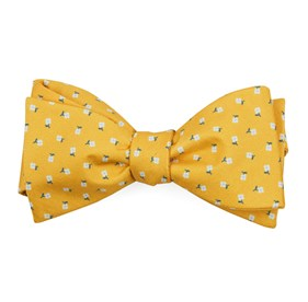 Yellow Gold Wonder Floral bow ties