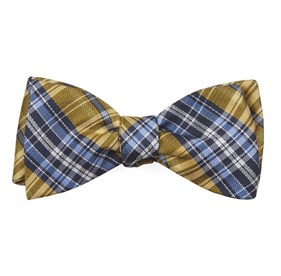 Yellow Motley Plaid bow ties