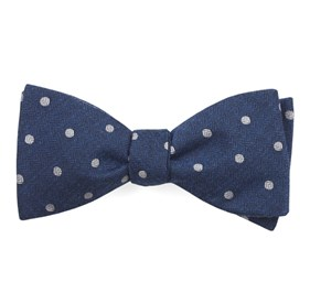 Dotted Hitch Classic Blue Bow Ties
