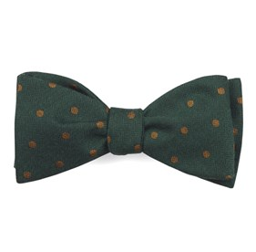 Hunter Green Dotted Hitch bow ties