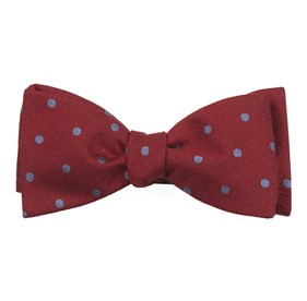 Dotted Hitch Red Bow Ties