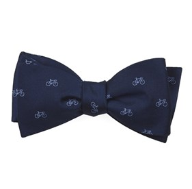 Navy Two-wheeler Bicycle bow ties