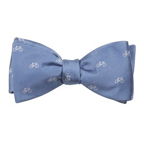 Slate Blue Two-wheeler Bicycle bow ties