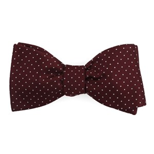 mini dots wine bow ties