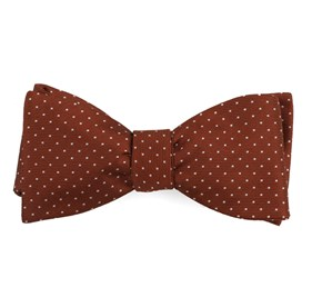 Copper Mini Dots bow ties