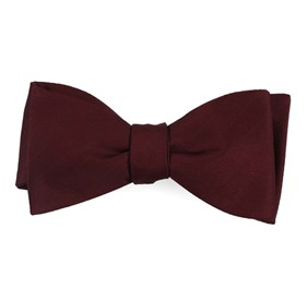 Wine Herringbone Vow bow ties