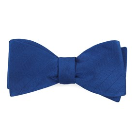 Royal Blue Herringbone Vow boys bow ties