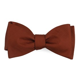 Copper Herringbone Vow boys bow ties