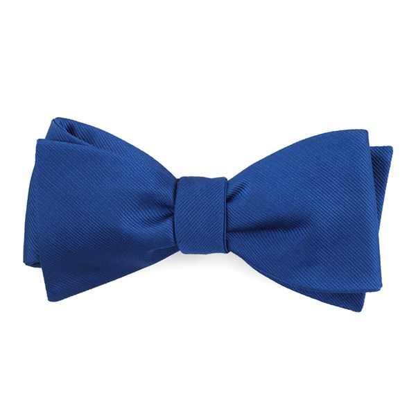 Royal Blue Grosgrain Solid Bow Tie