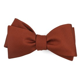 Copper Grosgrain Solid boys bow ties