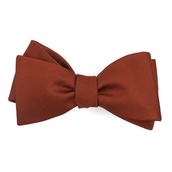 Copper Grosgrain Solid Bow Tie