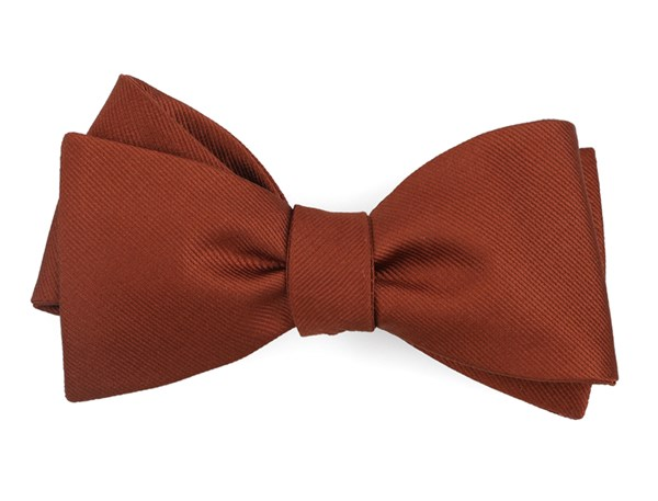 Grosgrain Solid Copper Bow Tie