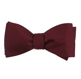 Wine Grosgrain Solid boys bow ties