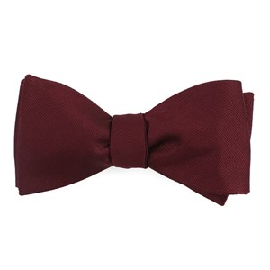 grosgrain solid wine bow ties