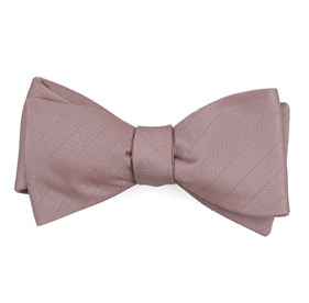 Mauve Stone Herringbone Vow bow ties