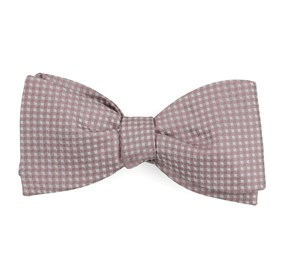 Mauve Stone Be Married Checks bow ties
