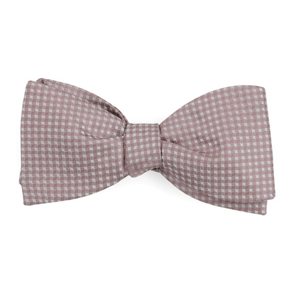 Mauve Stone Be Married Checks Bow Tie