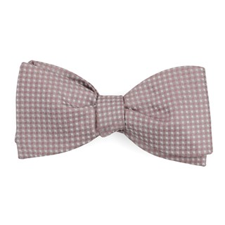 be married checks mauve stone bow ties