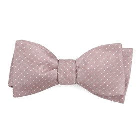 Mauve Stone Mini Dots bow ties