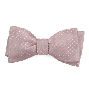 mini dots mauve stone bow ties