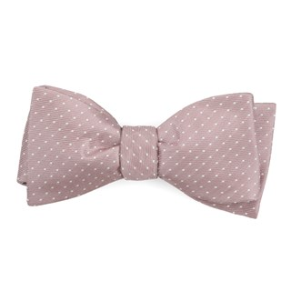 mini dots mauve stone boys bow ties