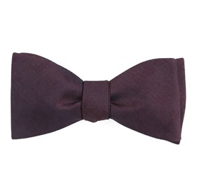 Wine Refinado Floral bow ties