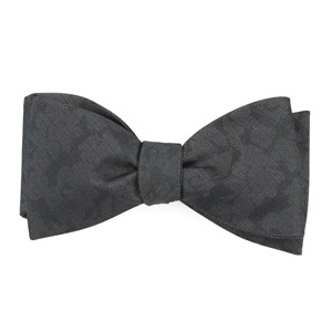 refinado floral charcoal bow ties