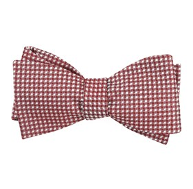 Burgundy Be Married Checks bow ties