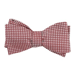 be married checks burgundy bow ties