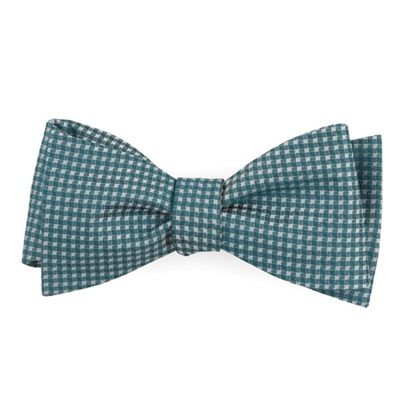 Teal Be Married Checks Bow Tie