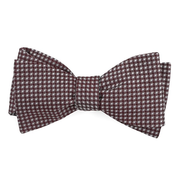 Wine Be Married Checks Bow Tie