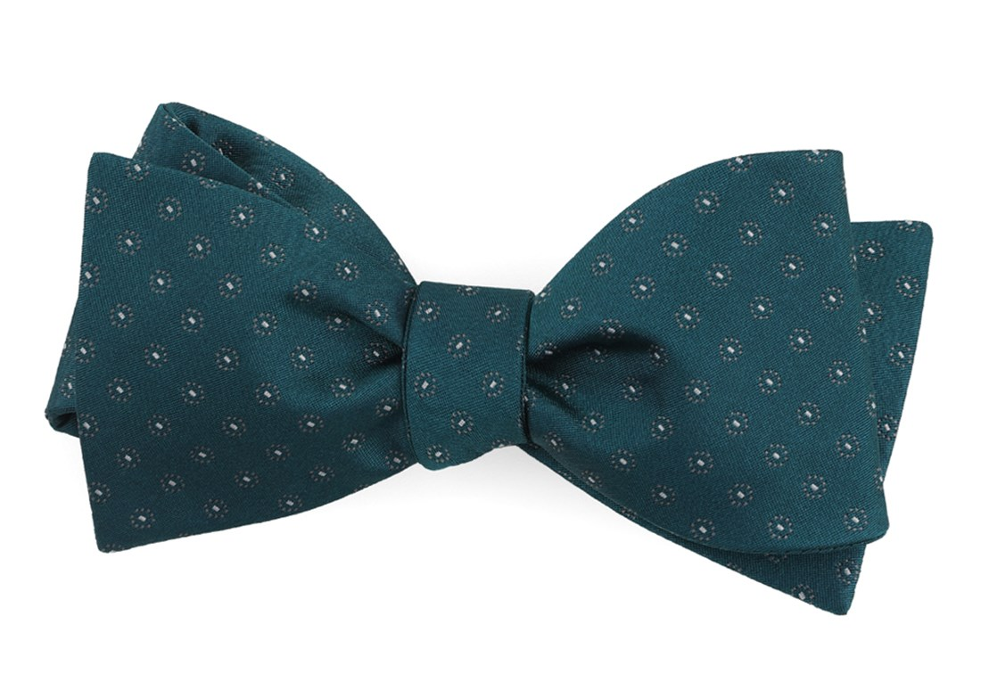 Teal Sparkler Medallions Bow Tie Men S Bow Ties The