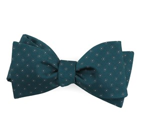 Teal Sparkler Medallions bow ties