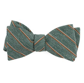 Hunter Green Pike Stripe bow ties
